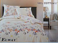 Сатиновое постельное белье евро ELWAY 5063