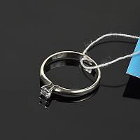 Серебряное кольцо с камушком маленький размер
