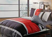 Сатиновое постельное белье евро ELWAY 5069