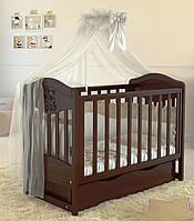 Детская кроватка  Angelo Lux -2  темный Орех
