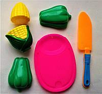 Фрукты разрезные (на липучке), 2шт, нож, досточка.