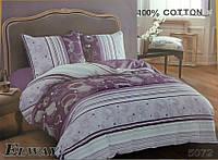 Сатиновое постельное белье евро ELWAY 5072