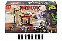 Конструктор BELA Ninja Ограбление киоска в Ниндзяго 10714 (Аналог LEGO Ninjago Movie 70607) 263 дет. (Ниндзя)