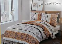 Сатиновое постельное белье евро ELWAY 5076