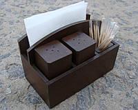 Подставка - набор для специй №11, цвет коричневый