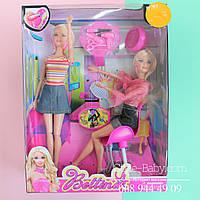 Набор Кукла шарнирная Салон красоты,кресло,расческа,в кор-ке,33,5-25,5-8см