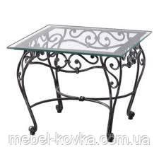 Кований стіл зі скляною стільницею 48