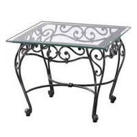 Кованый стол со стеклянной столешницей 48