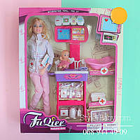 Кукла Доктор шарнирная, набор доктора, пупс в кор-ке, 27-33-6,5см