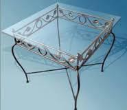 Кованый стол со стеклянной столешницей51
