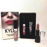 Набор помада + блеск Kylie Jenner Lipstick Lip Gloss 2 in 1