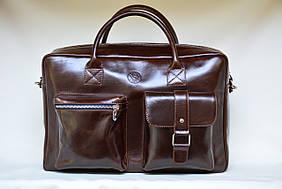 Мужской портфель из натуральной лаковой кожи