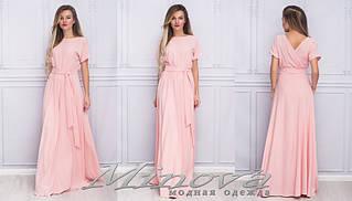 Красива сукня в пол з костюмної тканини