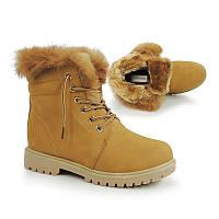 Женские ботинки на зиму, с искусственным мехом
