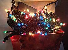 Гирлянда Xmas Lights 150 л, зеленый провод (8 режимов), фото 2