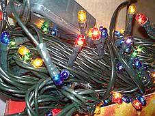 Гирлянда Xmas Lights 150 л, зеленый провод (8 режимов), фото 3