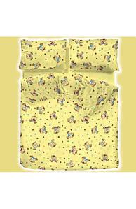 Комплект постельного белья Вилюта 7501 подростковый ранфорс платинум желтый