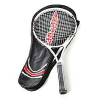 Теннисная ракетка MS 0058 алюминиевая, в сумке,70*29*3 см.
