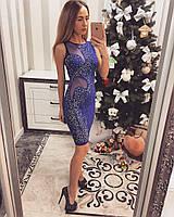Женское вечернее  платье с сеткой VITA 2  цвет Фиолетовый