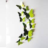 Зеркальные 3D бабочки на холодильник , стену , мебель (05814), фото 2