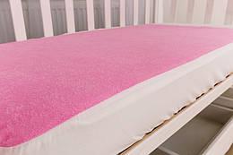 Наматрасник махровый Twins 120x60 см pink