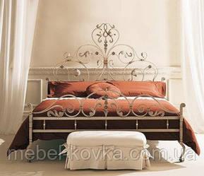 """Кровать  кованая  белого цвета """"Королевская"""""""