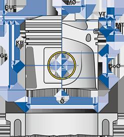 40100600   Поршень VOLVO D12/B/C/D STD d131.0 цільний (в-во групи kolbenschmidt)