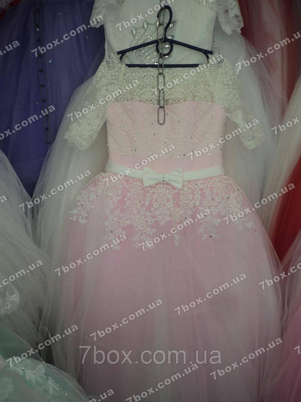 Детское платье бальное Королевское-1 (розовое) Возраст 10-12лет