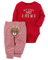 """Костюм Картерс для мальчика """"Мое первое Рождество""""  хлопок 12м,18м, фото 1"""