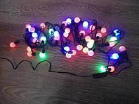Новогодняя гирлянда Шарики средние 40 LED 6 м 80 2,2 см