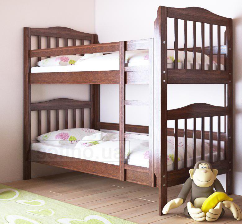 """Двухъярусная кровать """"Маряна"""" без ящиков (массив бука)"""