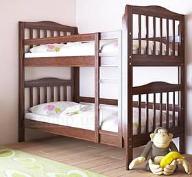 """Двоярусне ліжко """"Маряна"""" без ящиків (масив бука)"""