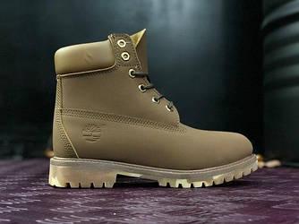 Мужские зимние ботинки Timberland Classіc (Тимберленд) болотные-камуфляжные