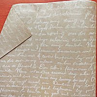 Бумага флористическая Письмо двухсторонняя