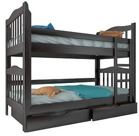 """Двоярусне ліжко """"Маряна"""" з ящиками (масив бука)"""