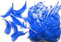 Перья декоративные синие 120 шт
