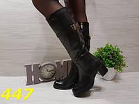 Сапоги женские демисезон на удобном каблуке, осенняя женская обувь