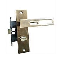 Дверные ручки межкомнатные с защелкой Unilock квадрат