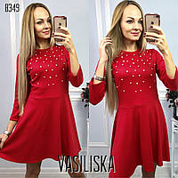 Нарядное вечернее платье с жемчужинами ан-11713-1