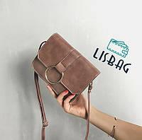 Стильная, классическая повседневная мини-сумочка, цвета кофе с молоком
