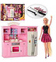 Мебель Кухня с куклой и аксессуарами детский игровой набор 66866