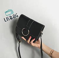 Стильная, классическая повседневная мини-сумочка, черная