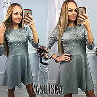 Нарядное вечернее платье с жемчужинами ан-11713-2