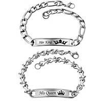 Браслеты для влюбленных Ее Король - Его Королева