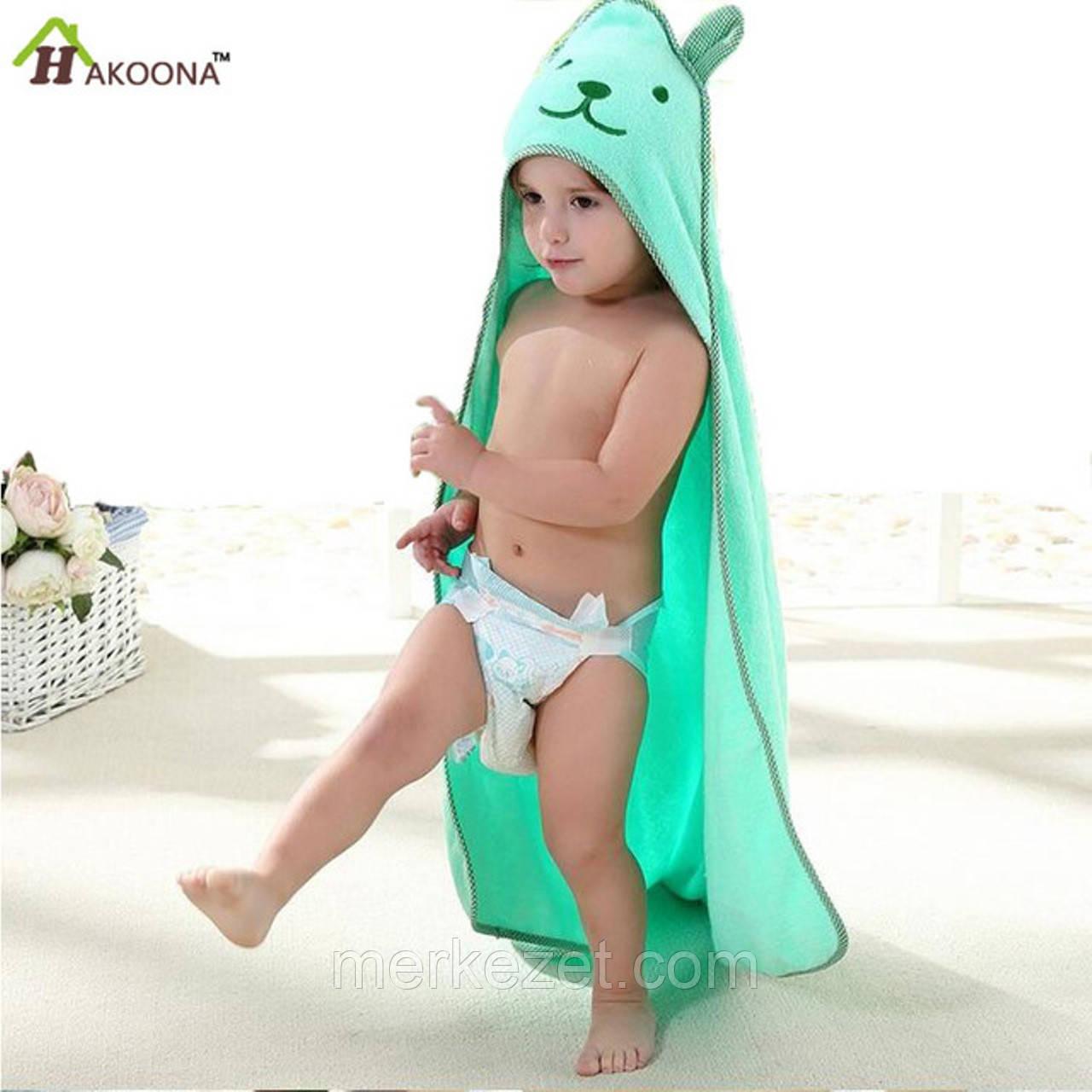 """Детское полотенце """"Чок-чок"""". Уголок для купания с ушками"""