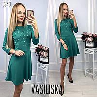Нарядное вечернее платье с жемчужинами ан-11713-5
