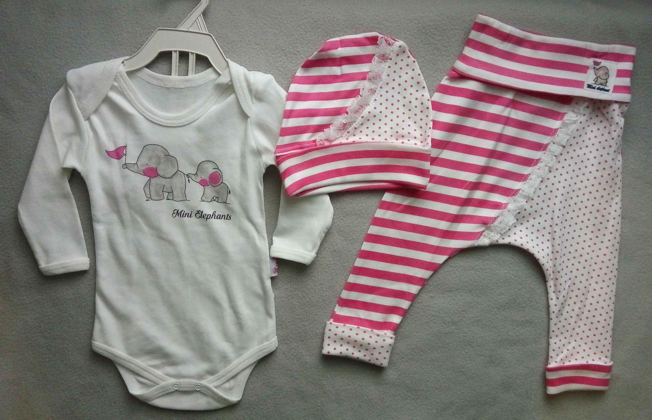 19d2dcb9bad2 Детский костюм-тройка с боди для новорожденных на девочек 6-12 мес Турция  оптом