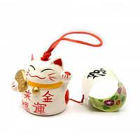 Колокольчик Кот из керамики
