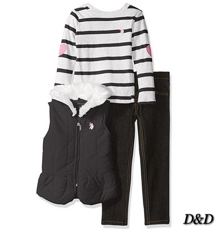 Одежда для девочки, джинсы, жилет, кофта, U.S. Polo Assn.