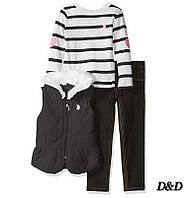 Одежда для девочки, джинсы, жилет, кофта, U.S. Polo Assn., фото 1